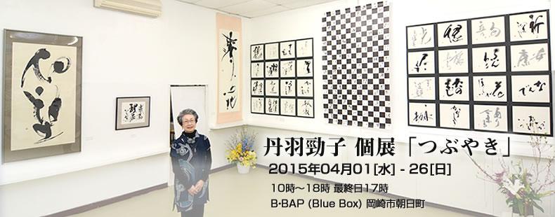 丹羽勁子 個展 「つぶやき」 岡崎市 B・BAP (Blue Box)